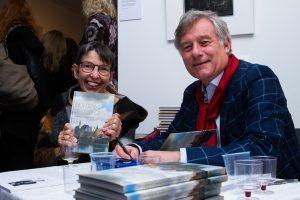 2016 Exhibition 'Lot', Heribert Korte signing his book for Jetta Klijnsma